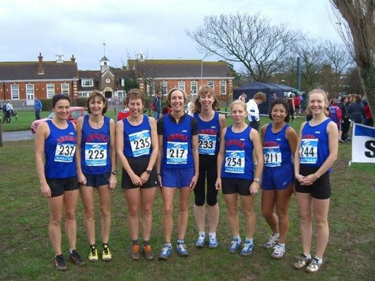 Arena 80 Ladies Team at Bexhill Cross Country