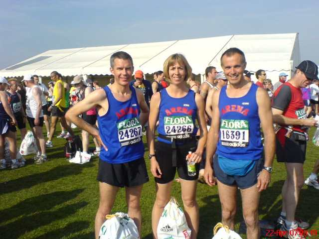 Duncan, Julie and Simon at the London Marathon