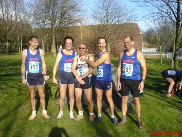 Mens Team at Lancing XC Race 4 March 07
